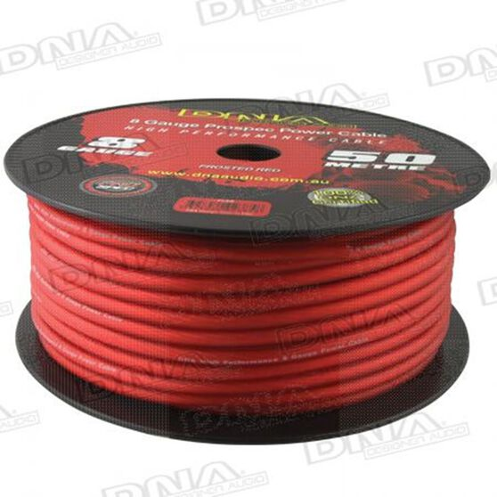 DNA CABLE 8 GUAGE POWER CABLE FROSTED RED 50 METRES, , scanz_hi-res