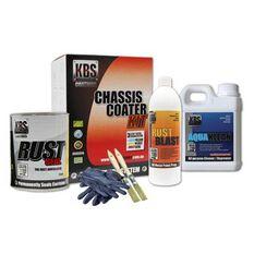 KBS CHASSIS COATER KIT FOR FULL SIZE CAR OR UTE SATIN BLACK, , scanz_hi-res