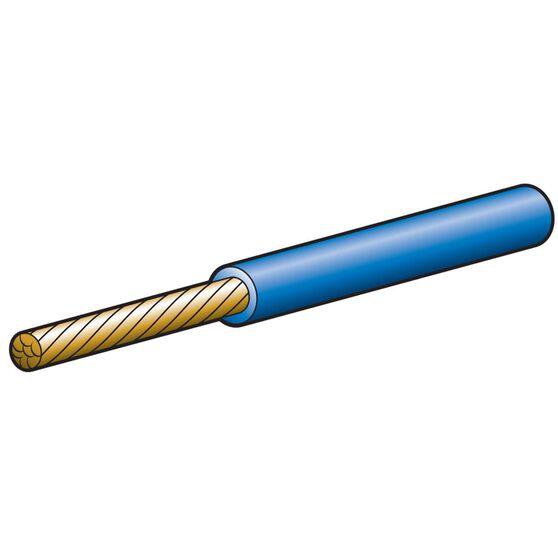 CABLE SGLE 4MM 25A 100M BLUE