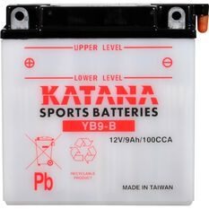 YB9-B Katana Motorcycle Battery, , scanz_hi-res