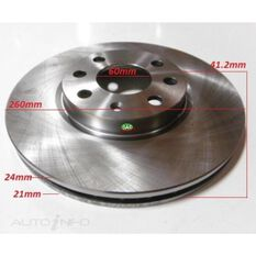 Rotor 260x41.2x24 Front Holden Barina XC 05/01->, , scanz_hi-res