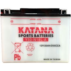 Y50-N18L-A Katana Motorcycle Battery, , scanz_hi-res