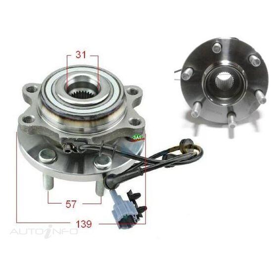 Nissan Navara D40 09- Front hub total hub width 104mm, , scanz_hi-res