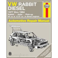 VW RABBIT, JETTA & PICK-UP HAYNES REPAIR MANUAL FOR 1977 THRU 1984 MODELS WITH 90 AND 97 CU IN DIESEL ENGINES. DOES NOT INCLUDE INFORMATION SPECIFIC TO GASOLINE ENGINES., , scanz_hi-res