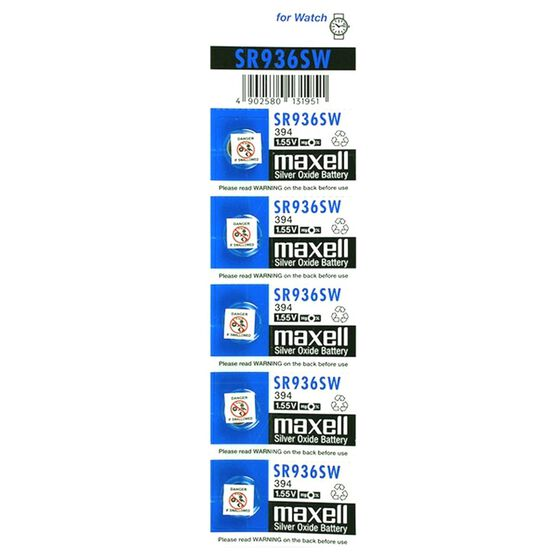 MAXELL SILVER OXIDE SR936SW WATCH BATTERY BUTTON CELL 5 PACK, , scanz_hi-res
