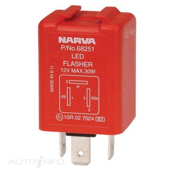 FLASHER ELEC 12V 3PIN LED, , scanz_hi-res