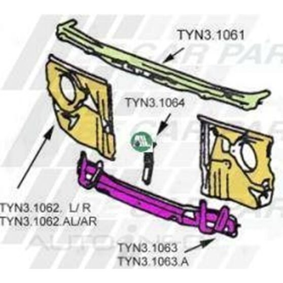 RADIATOR SUPPORT - 4PC, , scanz_hi-res