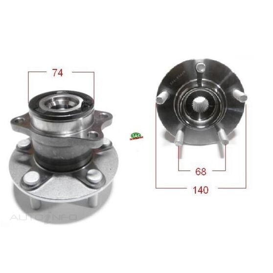 Mitsubishi Outlander 08-12 Rear wheel hub, , scanz_hi-res