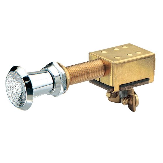 SWITCH PUSH/PULL OFF/ON BRASS