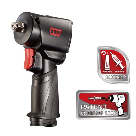 """M7 AIR IMPACT WRENCH 1/2"""" DRIVE TWIN HAMMER EZ GREASE 650FT, , scanz_hi-res"""
