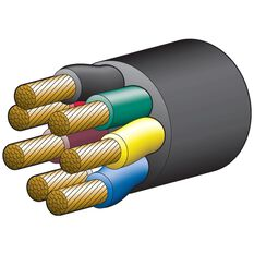 CABLE TRA 7 CORE 55AMP 6MM 30M