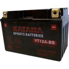 YT12A-BS Katana Motorcycle Battery