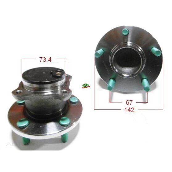 Mazda 3  04- Rear Hub Non ABS, , scanz_hi-res