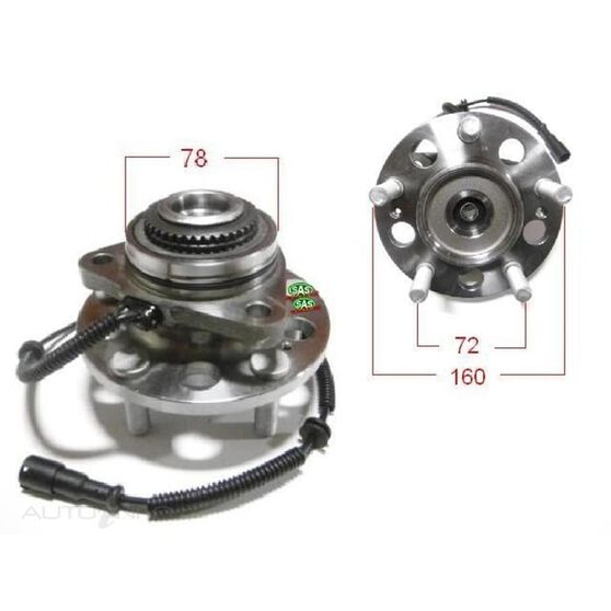 Ssangyong Action ute 06- Front wheel hub, , scanz_hi-res