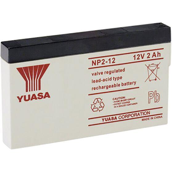 NP2-12 Yuasa NP VRLA Battery, , scanz_hi-res