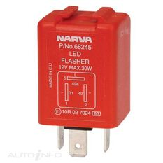 FLASHER ELEC 12V 3PIN LED, , scanz_hi-res