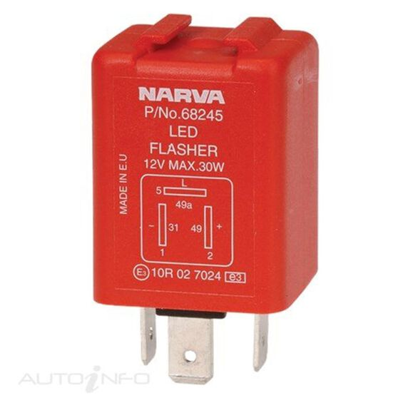FLASHER ELEC 12V 3PIN LED