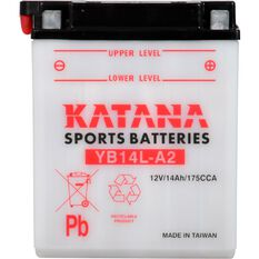 YB14L-A2 Katana Motorcycle Battery, , scanz_hi-res