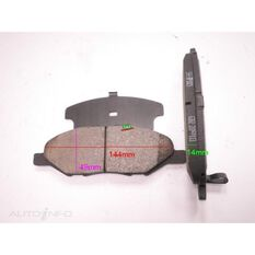 D1345-8456=FMSI for Royale Brake Set  F  Nissan March 02-
