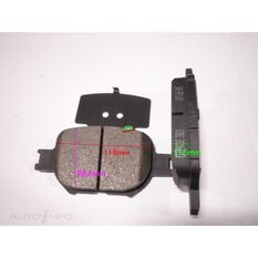 DB1431 FOR ROYALE BRAKE SET  F  TOYOTA COROLLA 00-, , scanz_hi-res