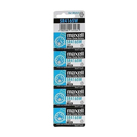 MAXELL SILVER OXIDE SR712SW WATCH BATTERY BUTTON CELL 5 PACK, , scanz_hi-res