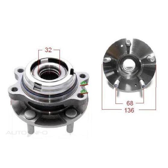 Nissan Skyline V36 Front wheel hub, , scanz_hi-res