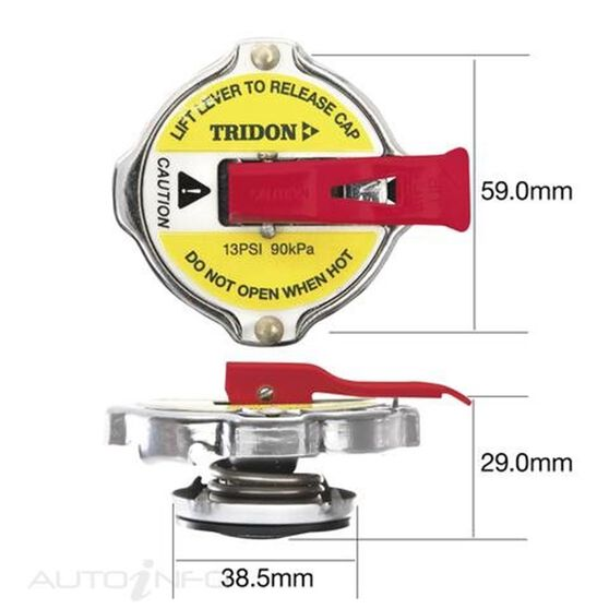 TRIDON LEVER RELEASE RECOVERY CAP