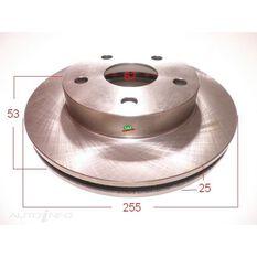 Rotor 255x53x25 Front Estima TCR10, 20 Disc/ Drum, , scanz_hi-res