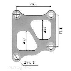 TURBO INLET GASKET MITSUBISHI 4G63T, , scanz_hi-res