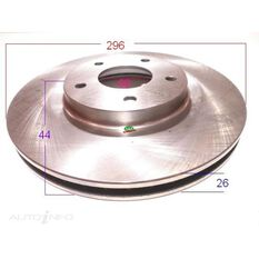 Rotor 296x44x26 Front Nissan X trail T31, Dualis, , scanz_hi-res