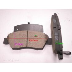 DB1286 FOR ROYALE BRAKE SET  F  HONDA CIVIC, CRX 92-, , scanz_hi-res