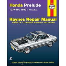 HONDA PRELUDE HAYNES REPAIR MANUAL COVERING ALL PRELUDE CVCC MODELS FROM 1979 THRU 1989, , scanz_hi-res