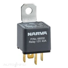 RELAY 12V 4PIN 40A RESISTOR, , scanz_hi-res