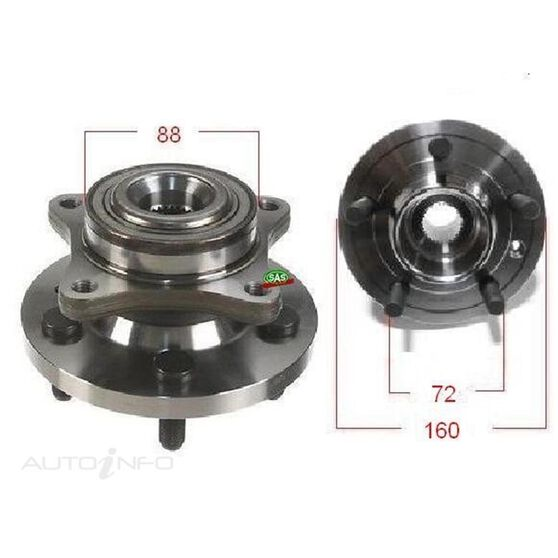 Land Rover Discovery 05- Fornt wheel hub, , scanz_hi-res