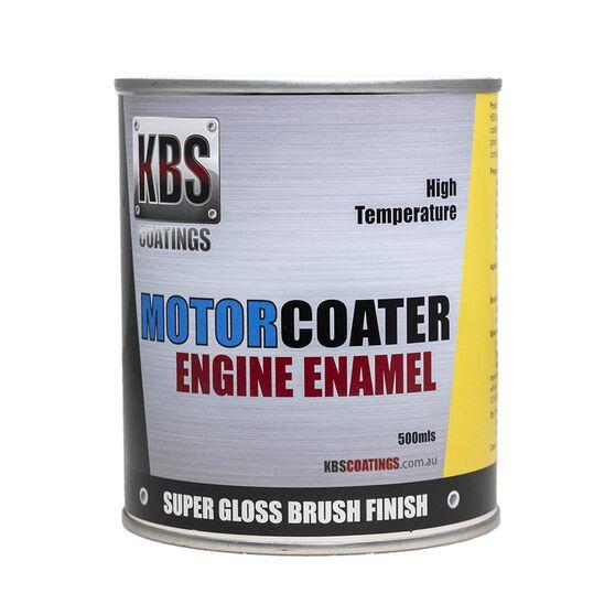 KBS ENGINE ENAMEL MOTORCOATER VELVET SATIN BLACK 500ML, , scanz_hi-res