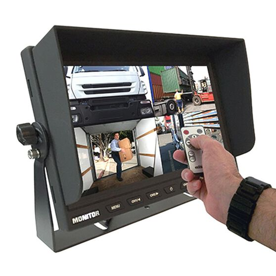 """RM90C-QUAD 9"""" DASH MOUNT 4 PIN 12-24 VOLT LCD MONITOR WITH QUAD VIEW, , scanz_hi-res"""