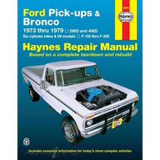 FORD PICK-UPS AND BRONCO HAYNES REPAIR MANUAL COVERING ALL FORD FULL-SIZE PICK-UPS F-100 THRU F-350 AND FORD BRONCO FOR YEARS 1973 THRU 1979, , scanz_hi-res