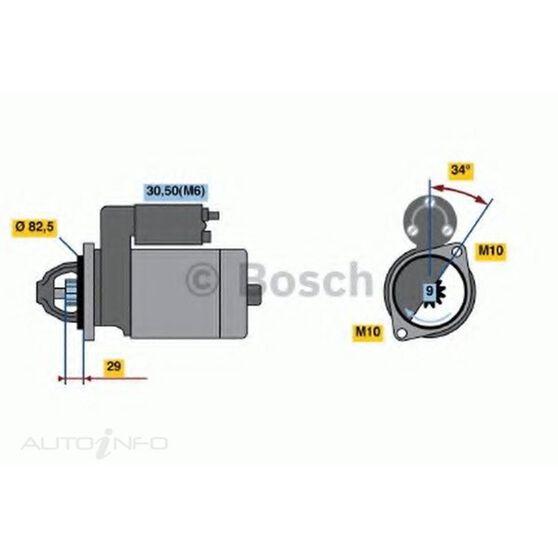 STARTER MOTOR - BOSCH, , scanz_hi-res