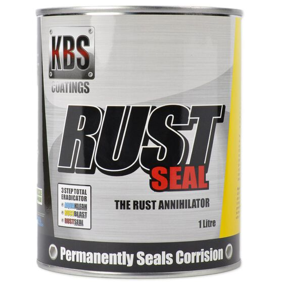 KBS RUSTSEAL RUST PREVENTIVE COATING SATIN BLACK 1 LITRE, , scanz_hi-res