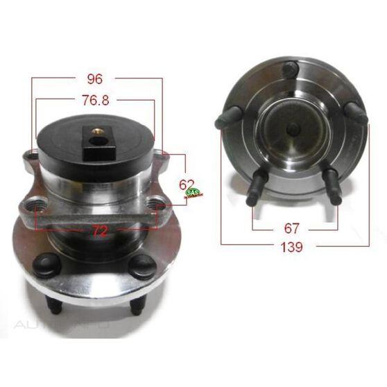 Mazda CX9 Rear Wheel Hub, , scanz_hi-res