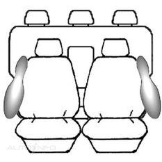 MITSUBISHI TRITON ML DOUBLE CAB - GLX / VR / GLX-R (07/2006 - 08/2009) DEPLOY SAFE (CHAR)