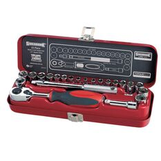 SOCKET SET 1/4INCH DRIVE MET/AF 23PC, , scanz_hi-res