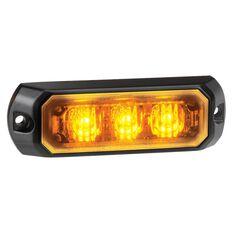 WARNING LIGHT 12/24V 3 LED AMBER, , scanz_hi-res