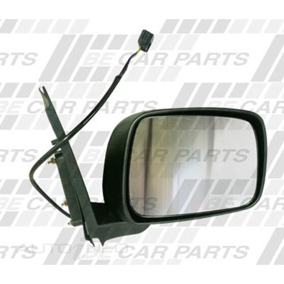 DOOR MIRROR - L/H - ELECTRIC - BLACK