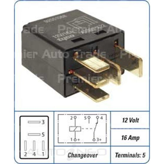MICRO RELAY - 5 PIN 12V 16A, , scanz_hi-res