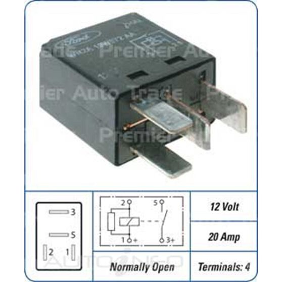 FORD RELAY SMALL 4 PIN, , scanz_hi-res