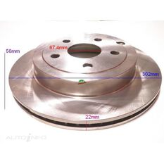 Rotor 302x56x22 Rear Holden Commodore VE, , scanz_hi-res