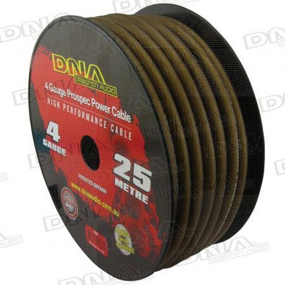 DNA CABLE 4 GAUGE POWER CABLE BROWN 25MTR, , scanz_hi-res