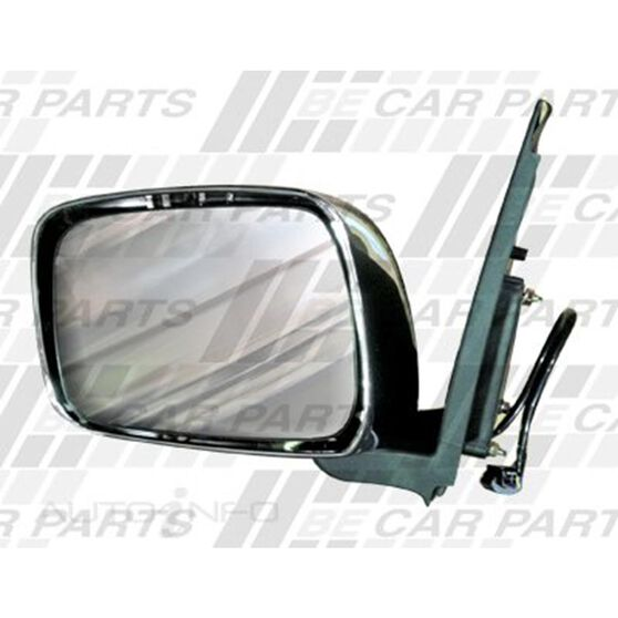 DOOR MIRROR - L/H - ELECTRIC - CHROME