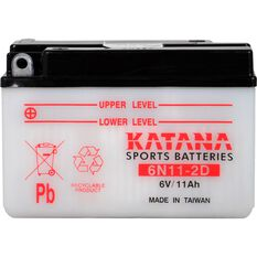 6N11-2D Katana Motorcycle Battery, , scanz_hi-res